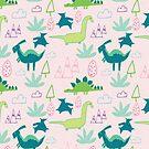 Dino Fun land Pink by susycosta
