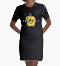 Its Robot Fighting Time Engineering and Robotics Team Shirt Graphic T-Shirt Dress