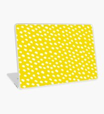 Brush Dot Pattern Yellow Laptop Skin