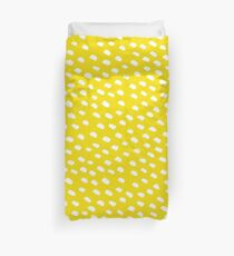 Brush Dot Pattern Yellow Duvet Cover