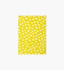 Brush Dot Pattern Yellow Art Board