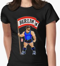ADAM LIKES BERLIN - BLUE OUTFIT Women's Fitted T-Shirt