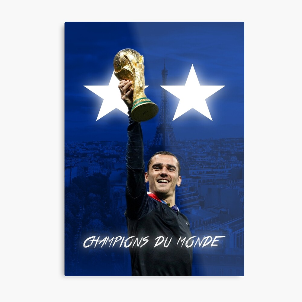 Antoine Griezmann - Francia - Campeones de la Copa Mundial 2018 - Champions Du Monde Lienzo metálico
