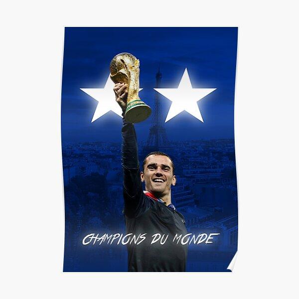 Antoine Griezmann - Francia - Campeones de la Copa Mundial 2018 - Champions Du Monde Póster