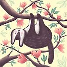 The cute animal in the magnolia branches by olofancy