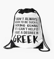 Greek Degree Genius Drawstring Bag