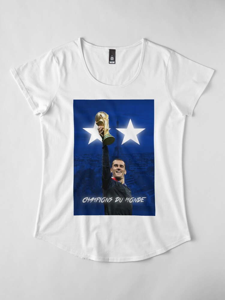 Vista alternativa de Camiseta premium para mujer Antoine Griezmann - Francia - Campeones de la Copa Mundial 2018 - Champions Du Monde