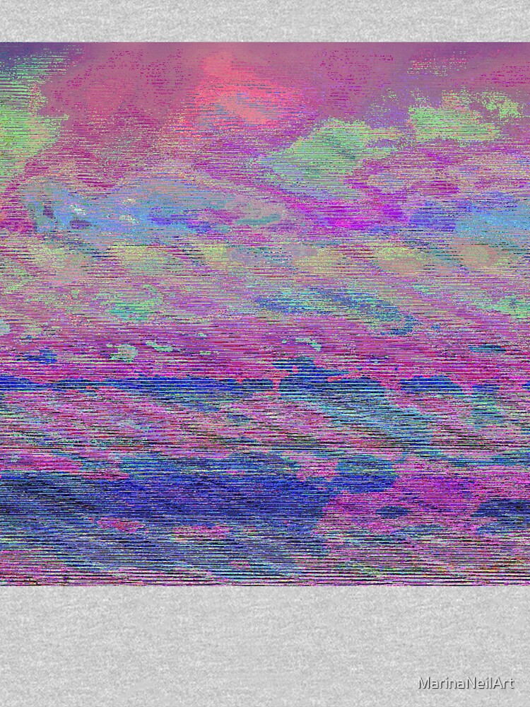 Vibrant Sky Glitch Art by MarinaNeilArt