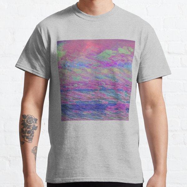 Vibrant Sky Glitch Art Classic T-Shirt