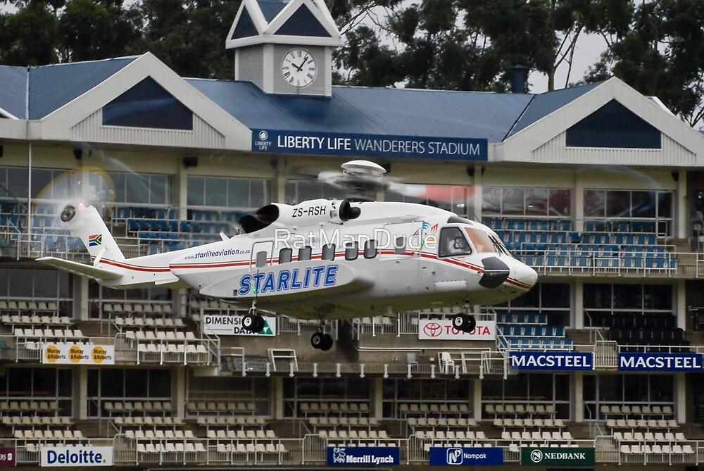 Sikorsky S-92 @ The Wanderers Cricket Stadium by RatManDude