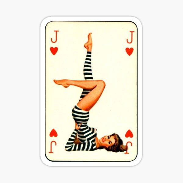 Poker Card Pin-Up Girl Sticker