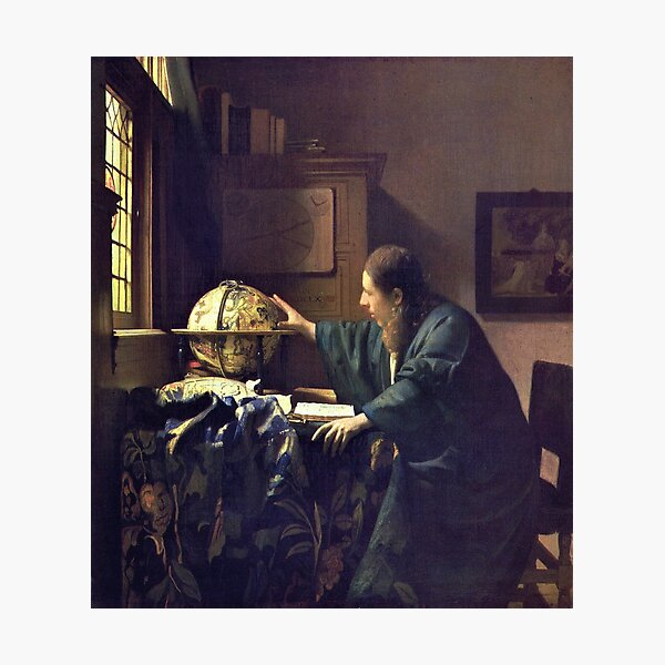 HD The astronomer, by Johannes Vermeer - HIGH DEFINITION Photographic Print