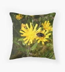 Insect on a Dandelion Throw Pillow