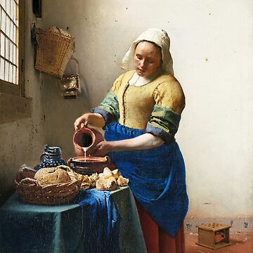 HD The Milkmaid, by Johannes Vermeer HIGH DEFINITION by mindthecherry