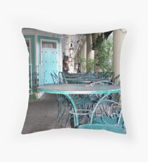 Tables and Chairs in the French Quarter Throw Pillow