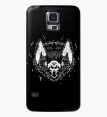 Bat Face - Black Case/Skin for Samsung Galaxy