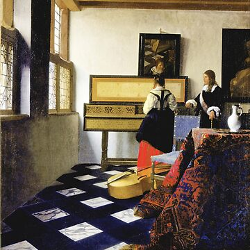 HD The Music Lesson,  by Johannes Vermeer by mindthecherry