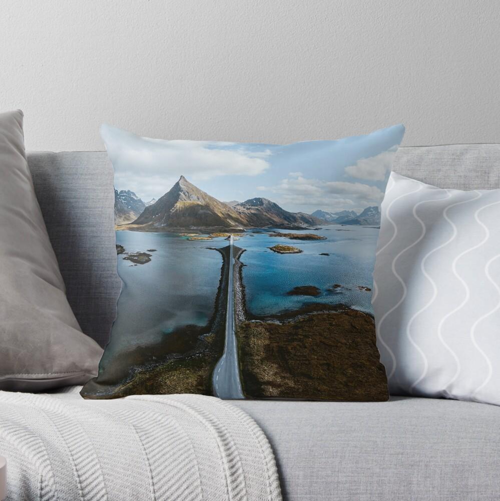 Lofoten Islands Throw Pillow