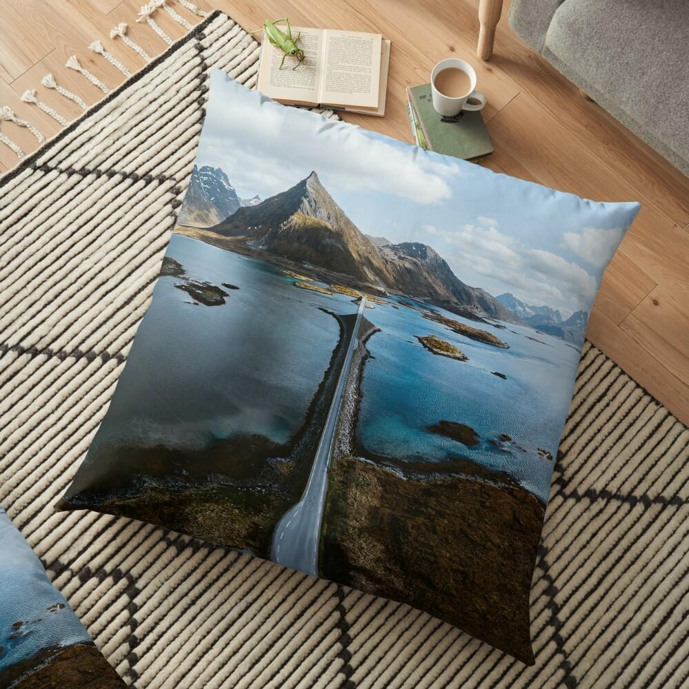 Lofoten Islands Floor Pillow