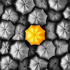 New York City - Yellow Umbrella by ARTSHOT