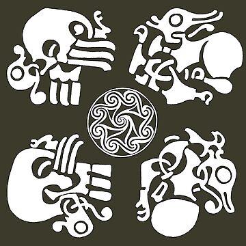 Norse Motif Set by amandamakepeace