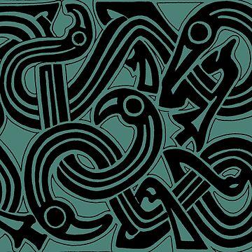 Viking Serpents by amandamakepeace