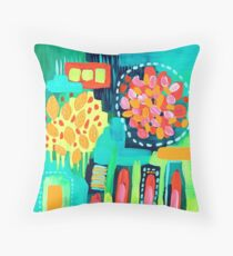 Aerial Abstract III Throw Pillow