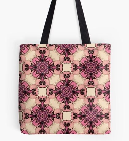 Pink and Purple Watercolor Orchids  Tote Bag