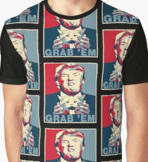 Trump Grab Em Poster Graphic T-Shirt