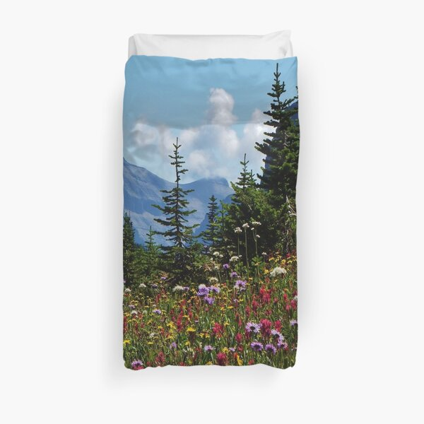 Mountain Wildflowers Duvet Cover