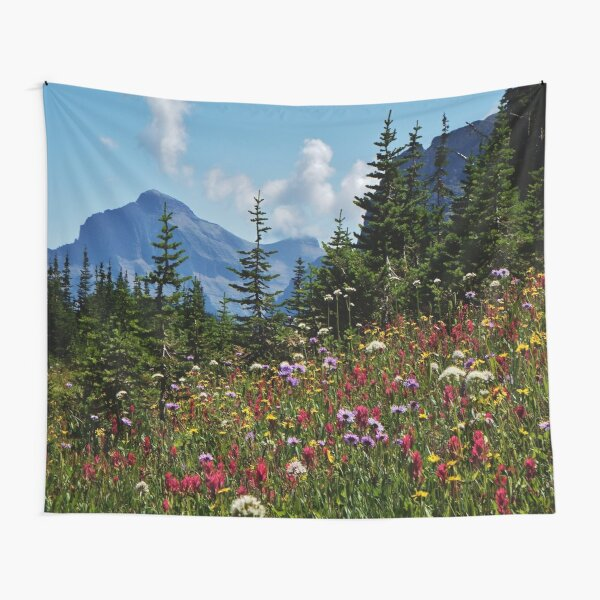 Mountain Wildflowers Tapestry