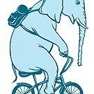 « Éléphant à vélo » par Amélie  Legault