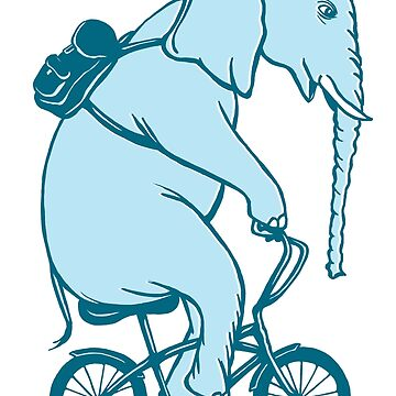 Elephant on bike by amelielegault