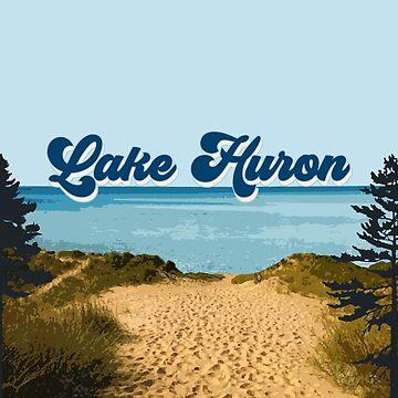 Lake Huron Retro by GreatLakesLocal