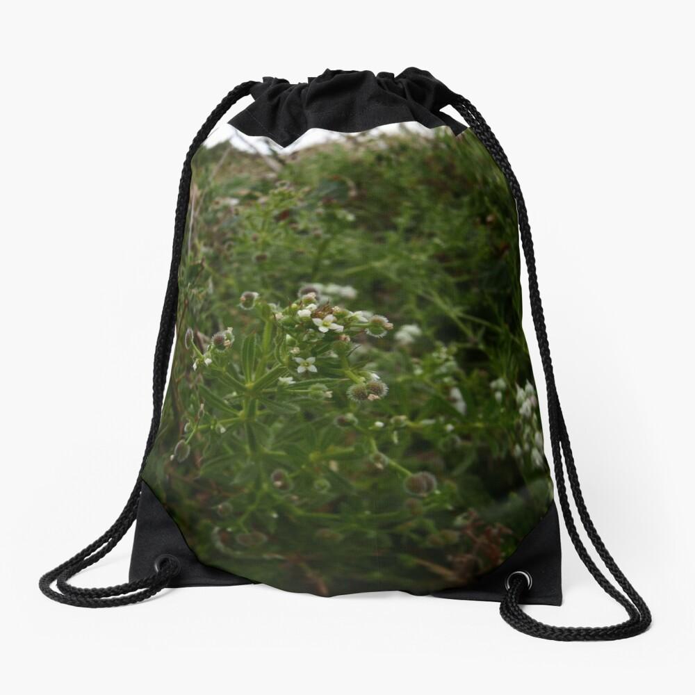 Cleavers (Galium aparine) Drawstring Bag