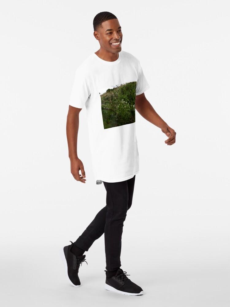 Alternate view of Cleavers (Galium aparine) Long T-Shirt