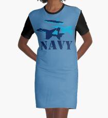 NAVY aircraft Graphic T-Shirt Dress