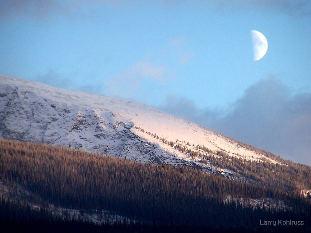 Moon Over Mountain 1 by Larry Kohlruss