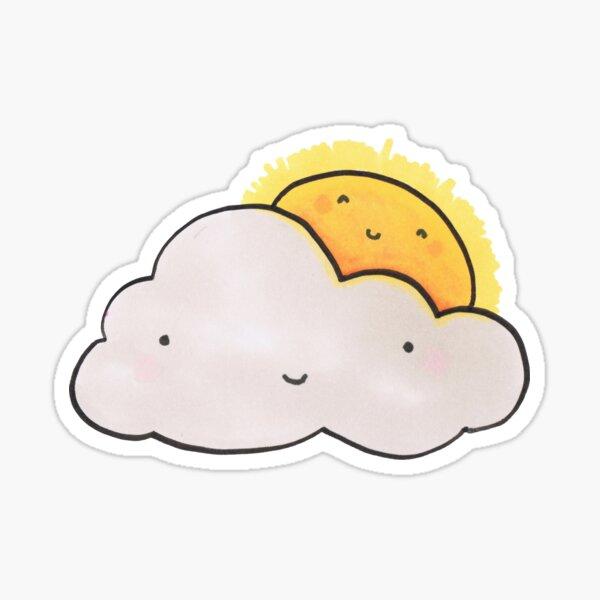 Sun and Cloud Buddies Sticker