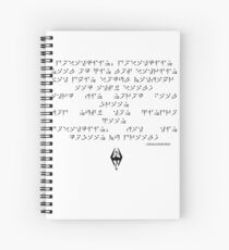 Dragonborn song Spiral Notebook