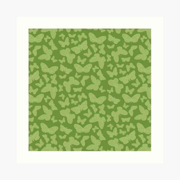 Moth Pattern Green Art Print