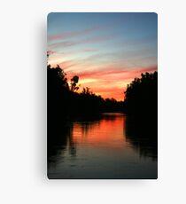 River Murray Sunset Canvas Print