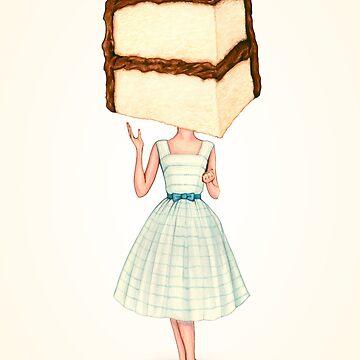 Cake Head Pin-Up : Choolate by KellyGilleran