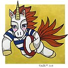 Rugby Unicorn: Provincial Aukland Colors: Animals of Inspiration by mellierosetest