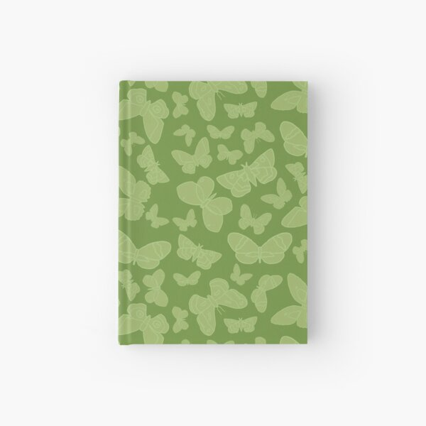 Moth Pattern Green Hardcover Journal