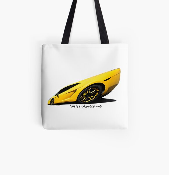 Super Car Art #15  We're Awesome  All Over Print Tote Bag