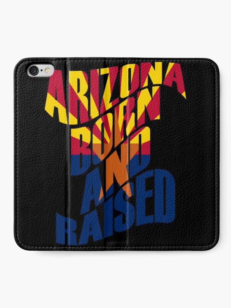 Alternative Ansicht von Arizona geboren und aufgewachsen iPhone Flip-Case