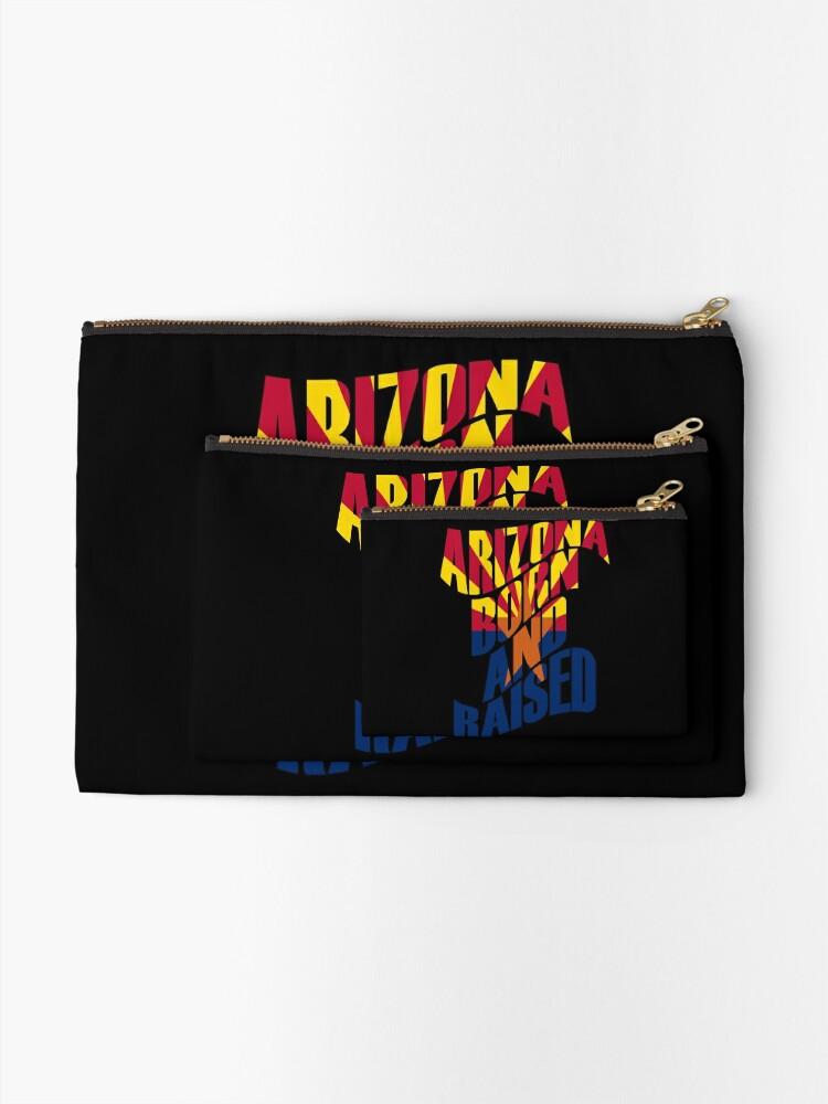 Alternative Ansicht von Arizona geboren und aufgewachsen Täschchen