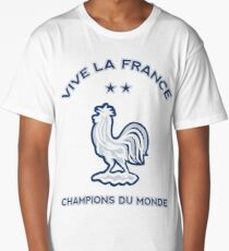 French Rooster with 2 stars - Champion of the world Long T-Shirt