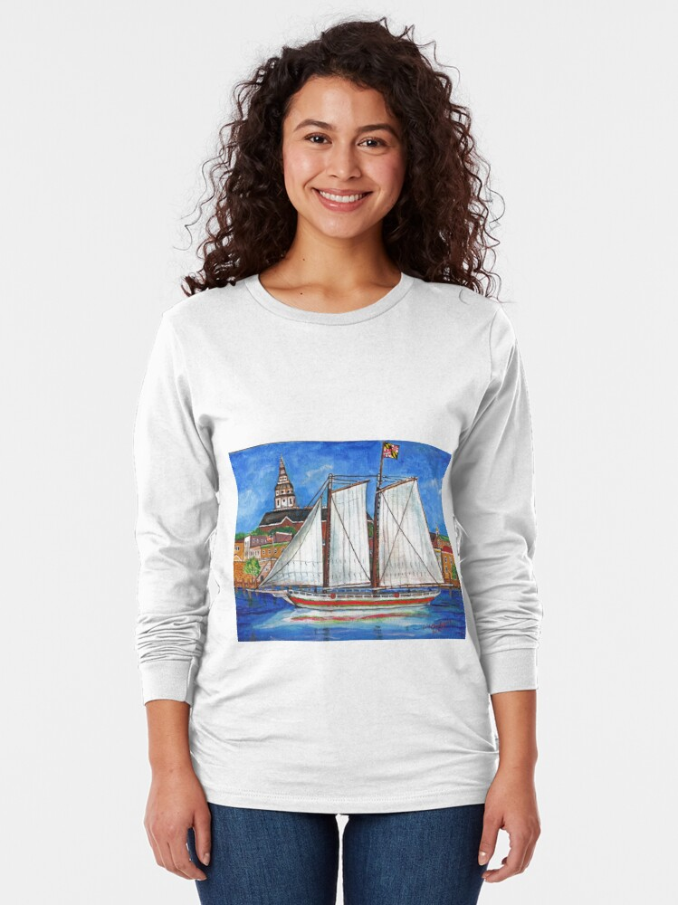 Alternate view of Sailing Annapolis Long Sleeve T-Shirt